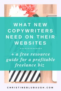 Are you a beginner copywriter wondering WTF needs to go on your website? Click the image to learn what you do and don't need on your website to find paying clients + grab a FREE resource guide for freelance copywriters.